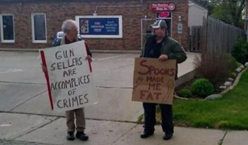 guns Protest picketing - 8388262144