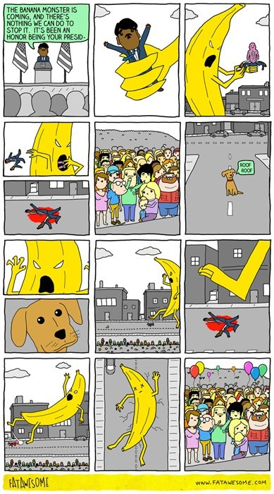 banana sad but true web comics monster - 8388322304