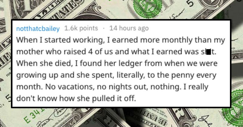 how people realized they grew up poor