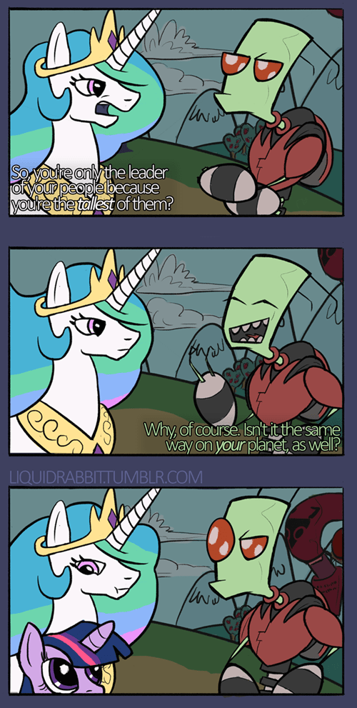 princess celestia Invader Zim leader - 8389392640