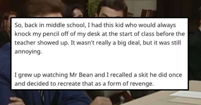 wholesome pencil school middle school revenge mr bean petty silly funny stupid mr bean mr bean - 8389637