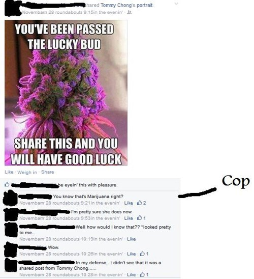 cops marijuana whoops