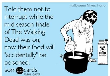 The Walking Dead mid-season Finale.