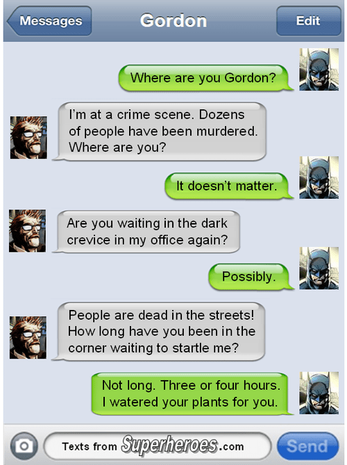 commissioner gordon texts batman - 8390552576