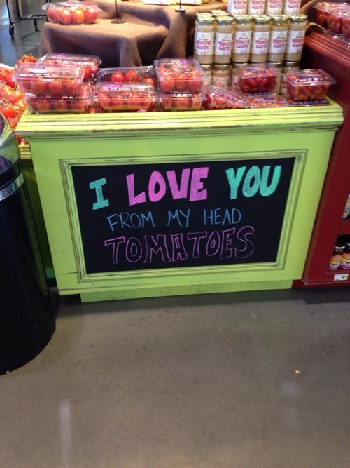 monday thru friday tomato puns grocery store g rated - 8390877952