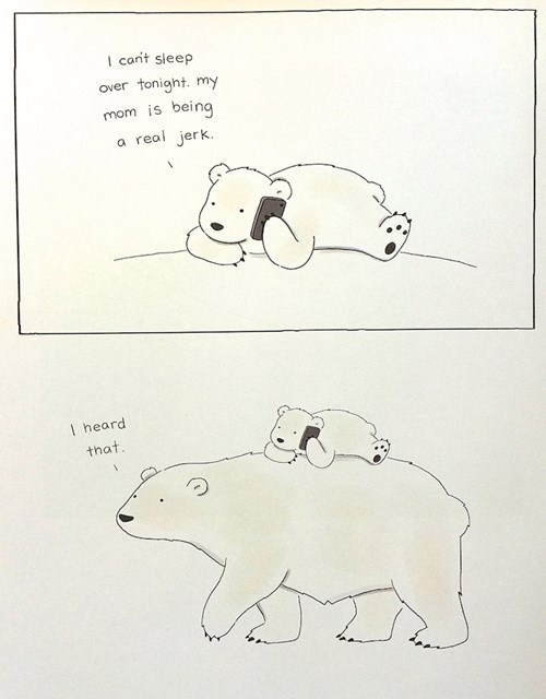 bears polar bears parenting web comics - 8390892288