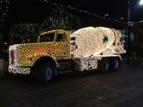 monday thru friday,christmas,christmas lights,truck,g rated