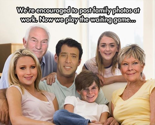 monday thru friday,jennifer lawrence,Maisie Williams,family photo,Judi Dench,nicolas cage,patrick stewart