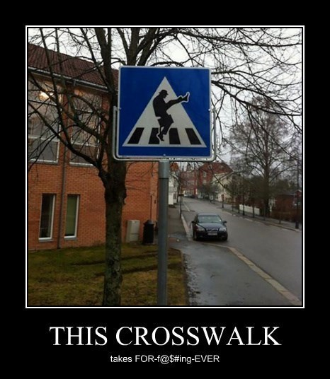 ministry of silly walks sign crosswalk funny - 8391027456