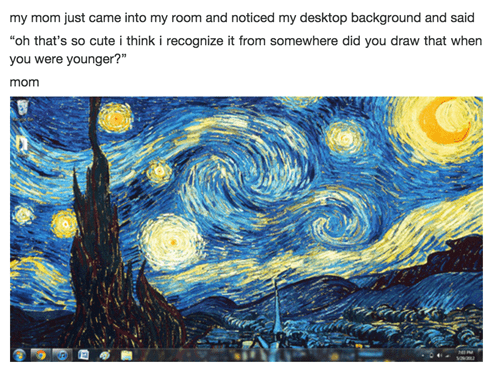 starry night art kids Van Gogh parenting - 8391050752