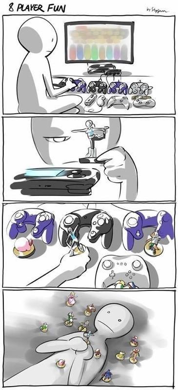 forever alone super smash bros cory video games web comics - 8391088896