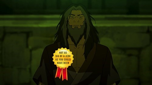 not as big of a jerk as you could have been korra - 8391105536