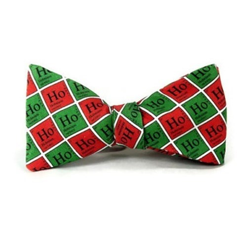 christmas bowtie ho ho ho awesome periodic table Chemistry funny - 8391144192
