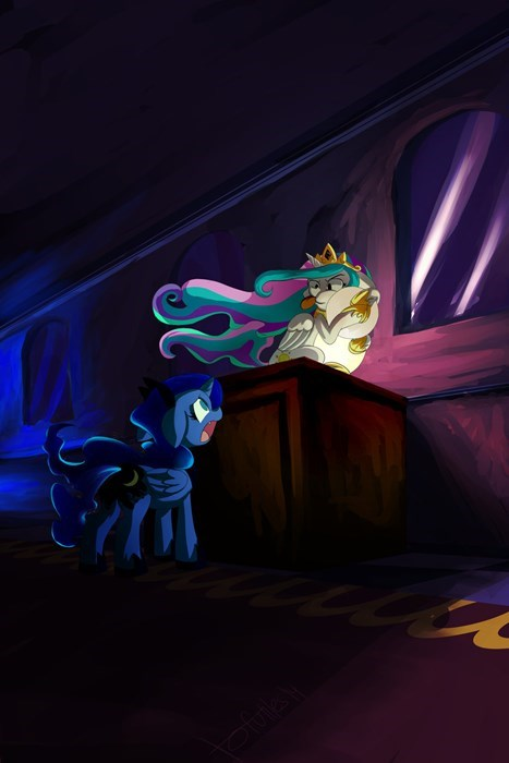 full moon sisters princess luna princess celestia - 8391156480