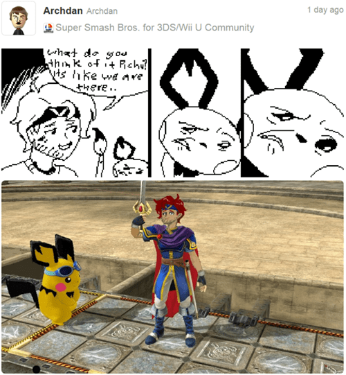 Close Enough super smash bros roy pichu Miiverse - 8391176960