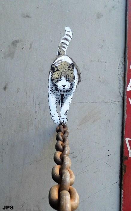 Street Art graffiti hacked irl Cats