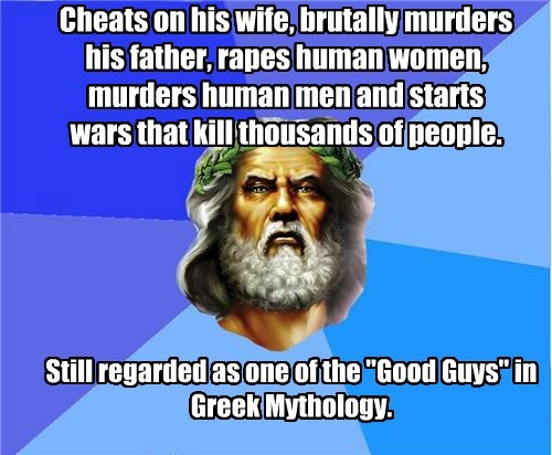 Good Luck Zeus! Talk about Historical Spin!