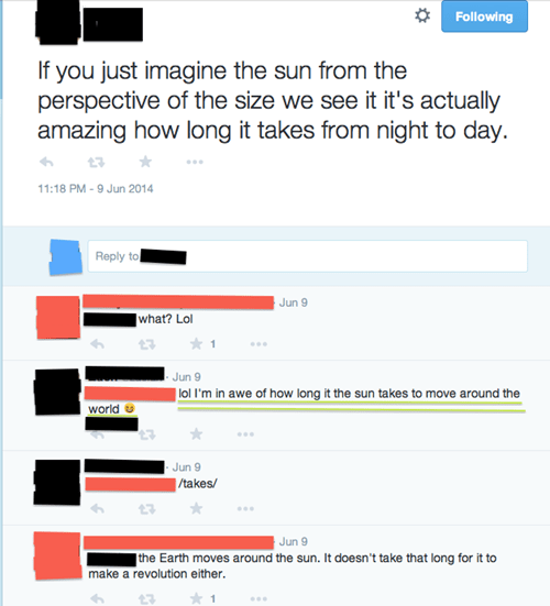 facepalm Astronomy sun science