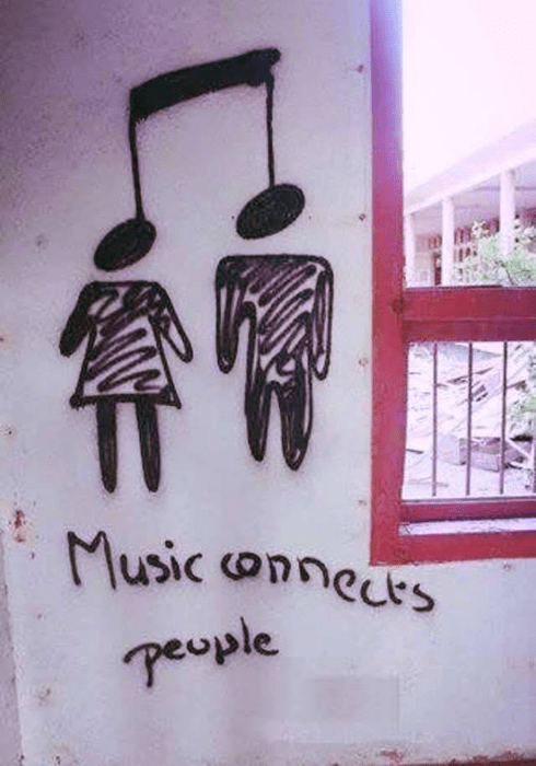Music,hanging,graffiti