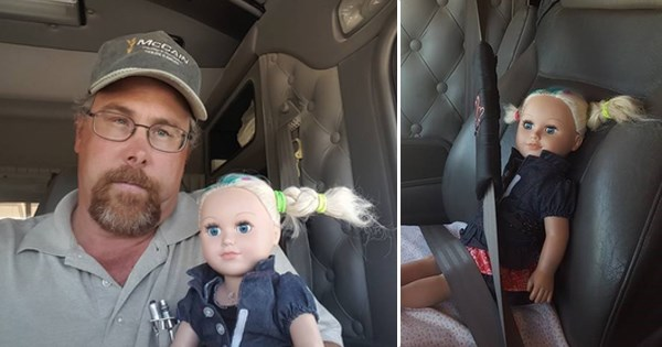 Dad Fulfills His Babysitting Obligation, Takes Daughter's Doll to Work with Him