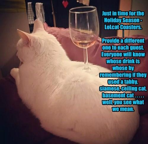 Cats christmas glass gift wine - 8391758592
