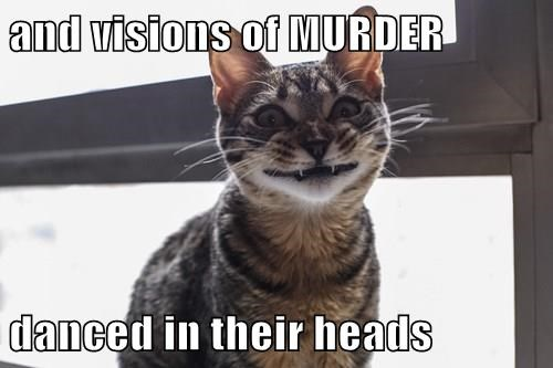 animals Cats christmas murder - 8391782144