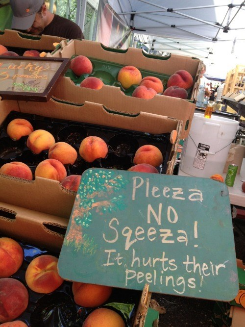 monday thru friday,farmers market,sign,puns,fruit