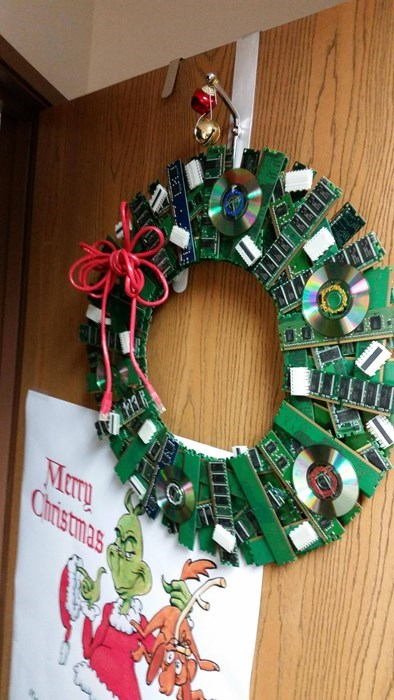 christmas tech support it wreath Xmas - 8391930368