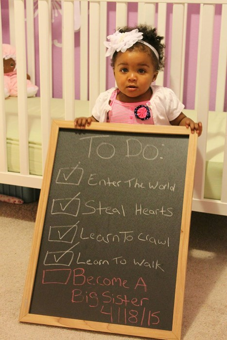 announcement kids parenting pregnant to-do list sister
