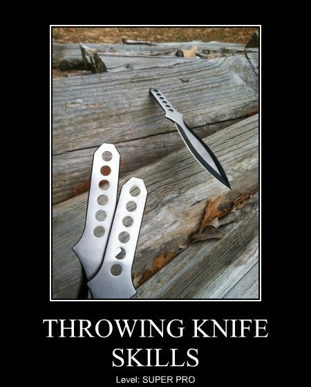 funny skills pro throwing knives - 8392033024