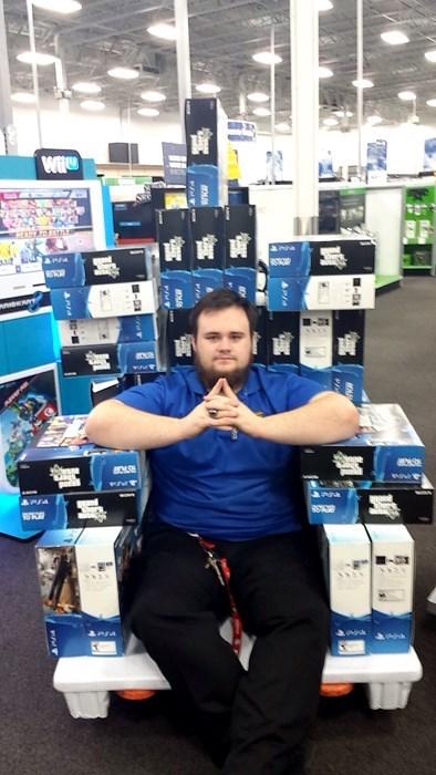 best buy monday thru friday video games retail throne - 8392080896
