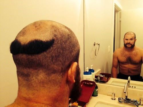hair moustache mustache poorly dressed - 8392099072