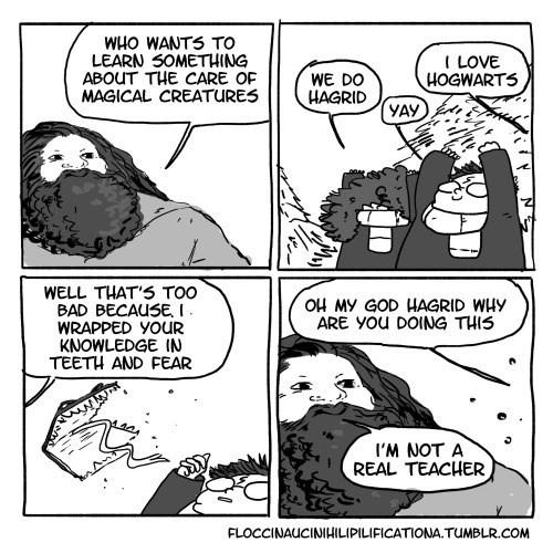 Fan Art Hagrid Harry Potter web comics - 8392124672