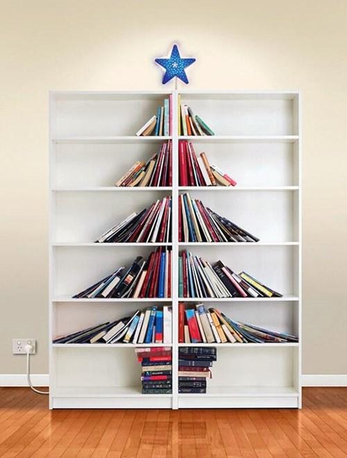 bookshelf,christmas,design,decoration