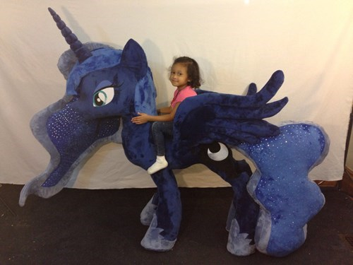 Plushie awesome princess luna ridin ponies - 8392263936