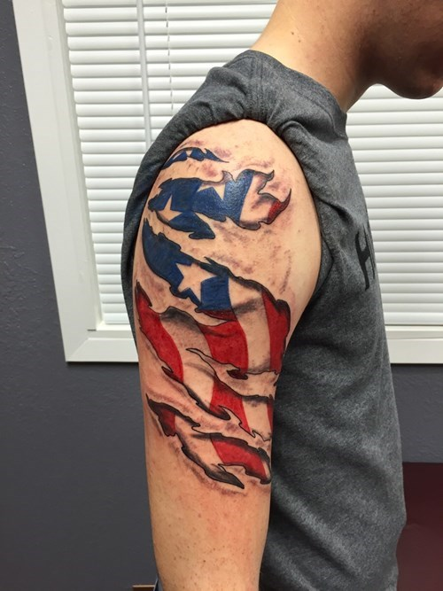 flags,tattoos,murica,old glory
