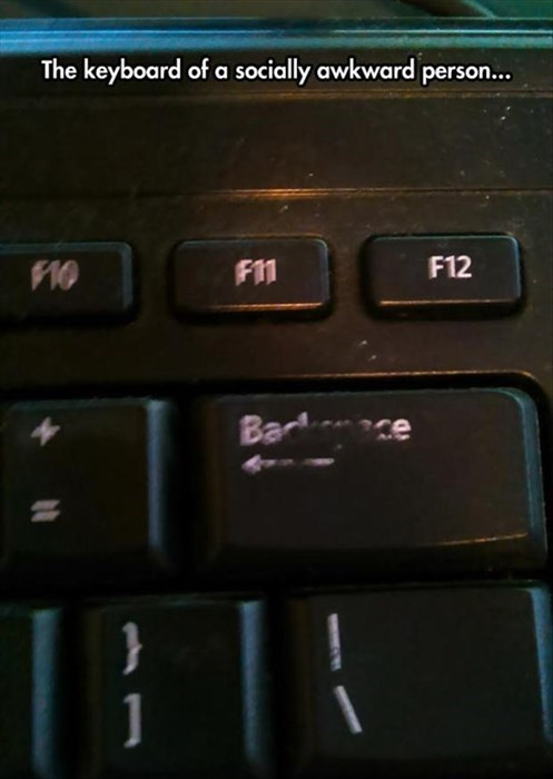 monday thru friday backspace Awkward keyboard