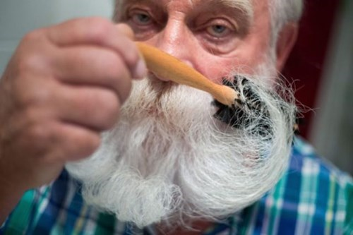 brush mustache beard facial hair poorly dressed moustache - 8392930560