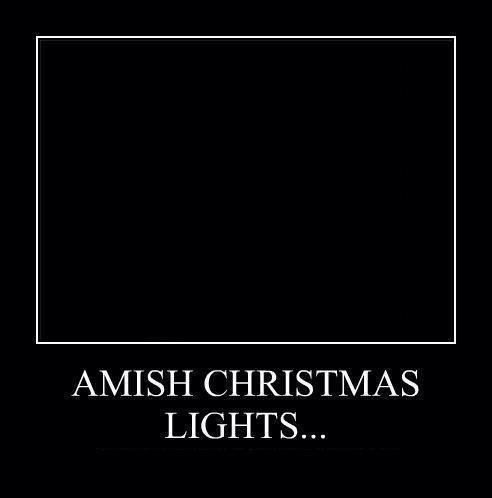 candles,christmas lights,amish,funny