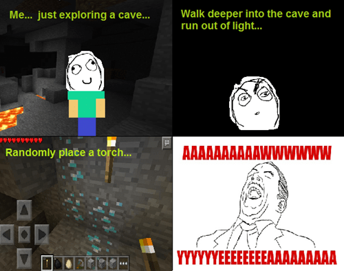 spelunking,minecraft,aww yea