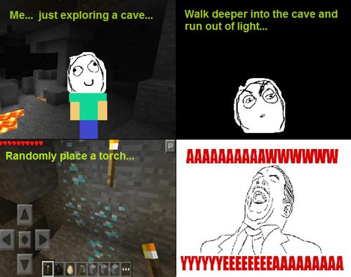 spelunking minecraft aww yea - 8393186560