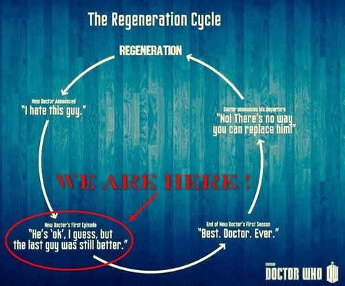 Peter Capaldi regeneration infographic