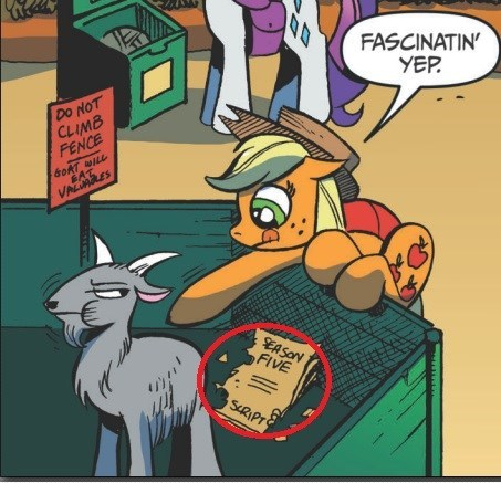 applejack the goat ate my homework comic books season 5 - 8393278464
