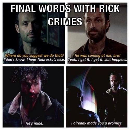 Rick Grimes final words BAMF machete - 8393295872