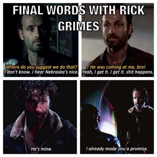 Rick Grimes final words BAMF machete - 8393295872