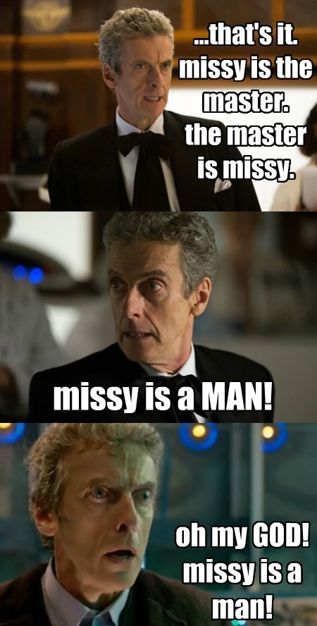 missy wha!? 12th Doctor ace ventura - 8393316608