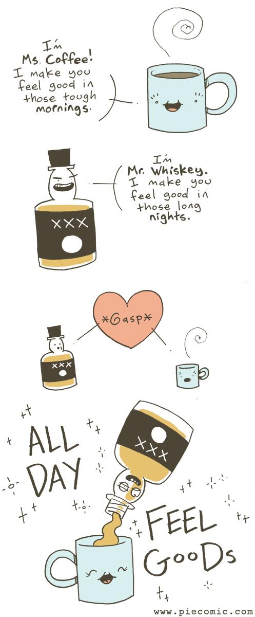 alcohol lifehacks coffee web comics - 8393319424