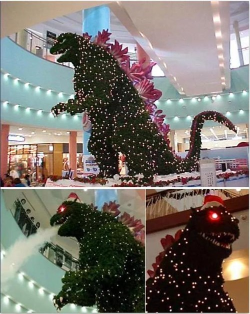 christmas godzilla christmas tree design g rated win - 8393390336