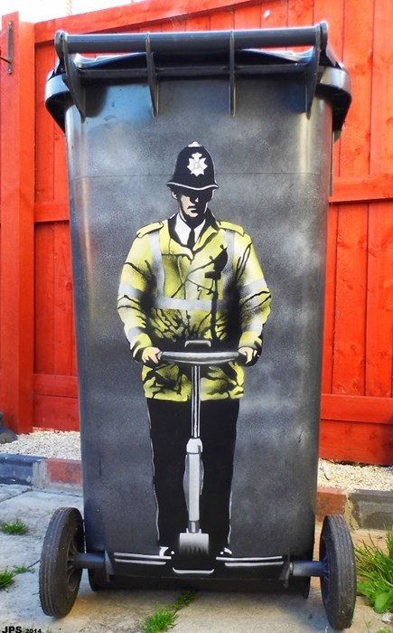 Street Art graffiti hacked irl segway police - 8393394944