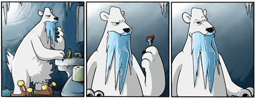 shaving beartic ice beards web comics - 8393445632